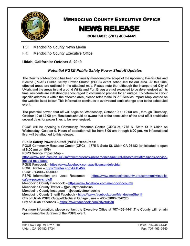 County News Release 10-8-19